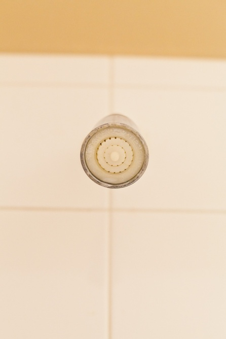 tiny old shower head