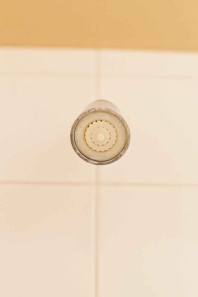 tiny old shower head